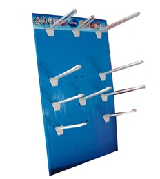 Counter Top Display Board With Hanging Pegs