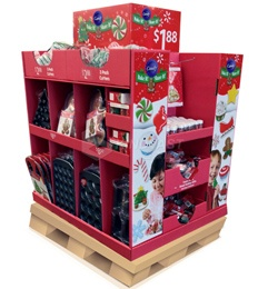 Supermarket Pallet Christmas Gifts Pop Stand
