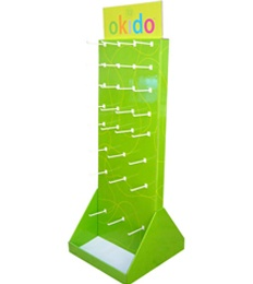 Double sides hanging pos display stands